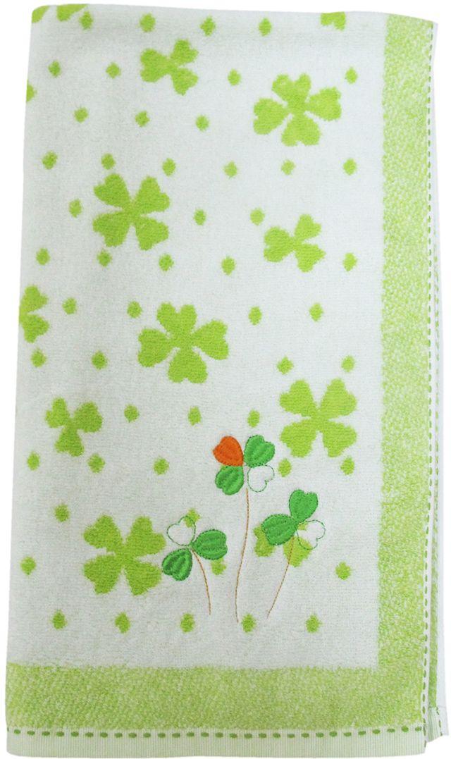 Полотенце махровое НВ Клевер, цвет: зеленый, 50 х 90 см. м0240_343255