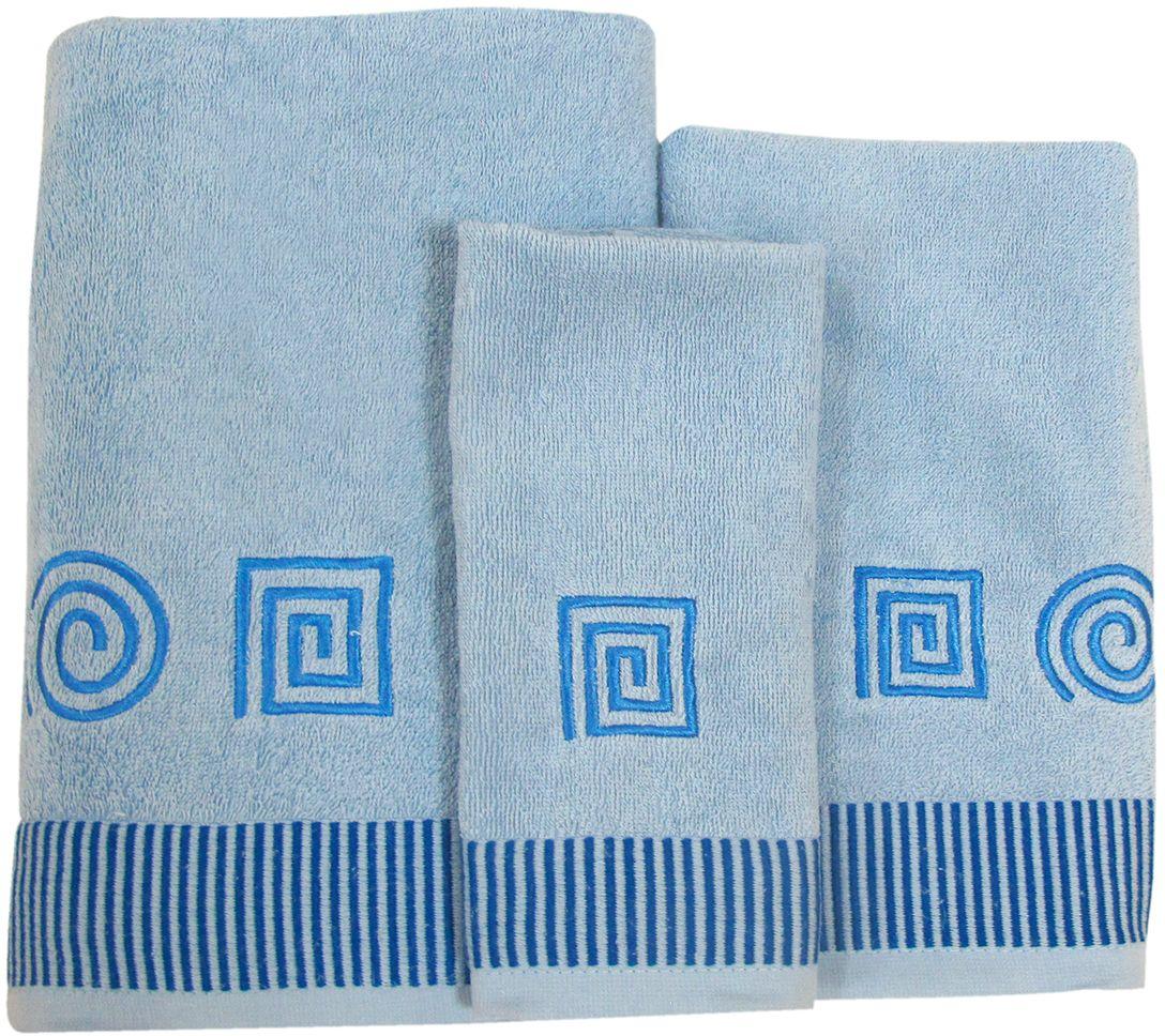 Набор махровых полотенец НВ Осеннее настроение, 30 х 50 см, 50 х 90 см, 70 х 140, 3 шт. м0263_1144759