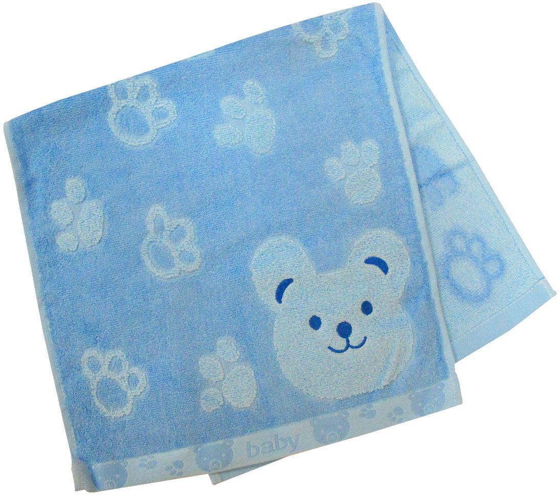 Полотенце махровое НВ Счастливый медведь, цвет: синий, 33 х 70 см. м0392_0155311