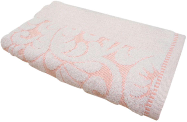 Полотенце махровое НВ Версаль, цвет: персиковый, белый, 50 х 90 см531-401Полотенце Версаль выполнено из натуральной махровой ткани (100% хлопок). Изделие отлично впитывает влагу, быстро сохнет, сохраняет яркость цвета и не теряет форму даже после многократных стирок. Полотенце очень практично и неприхотливо в уходе. Оно создаст прекрасное настроение и украсит интерьер в ванной комнате.