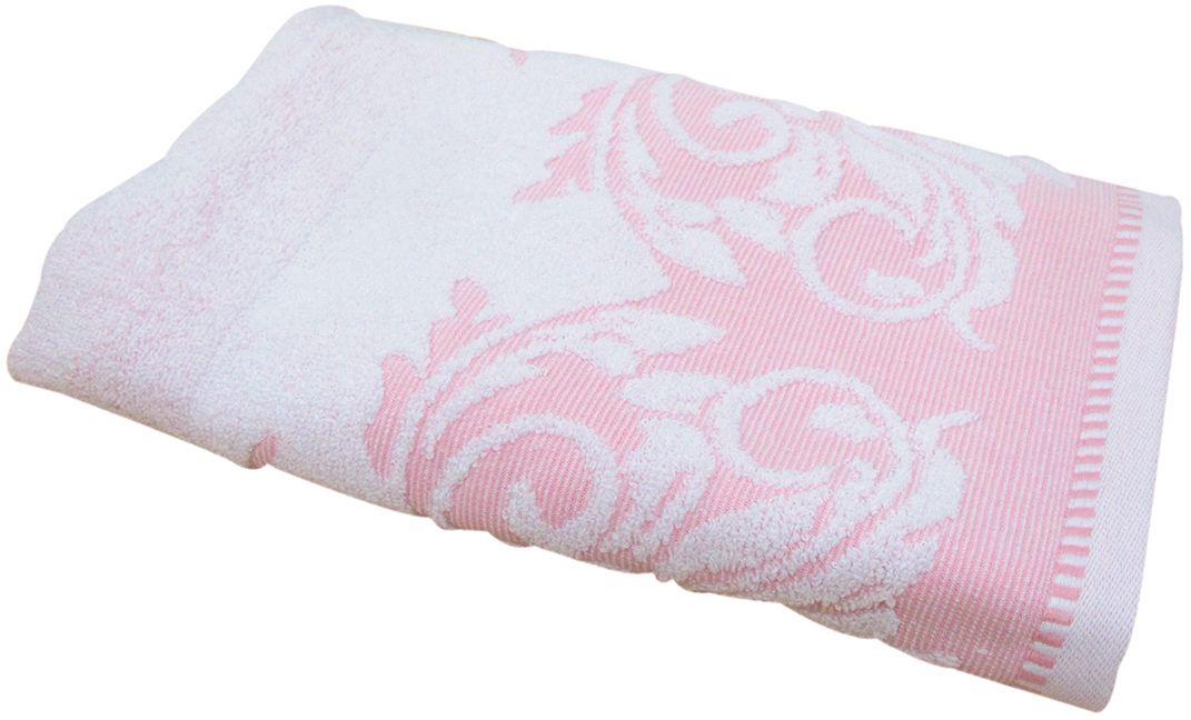 Полотенце махровое НВ Венеция, цвет: розовый, 50 х 90 см. м0508_0266505