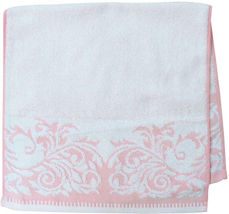 Полотенце махровое НВ Венеция, цвет: розовый, 33 х 70 см. м0508_0266514