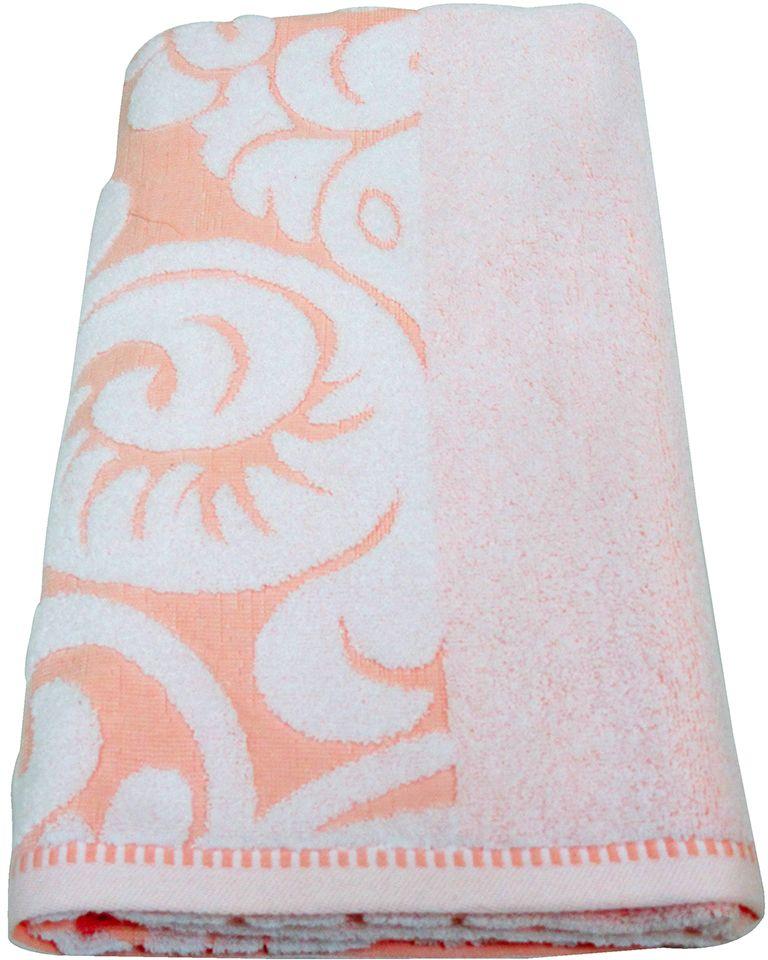 Полотенце махровое НВ Версаль, цвет: персиковый, 70 х 130 см. м0394_1278229