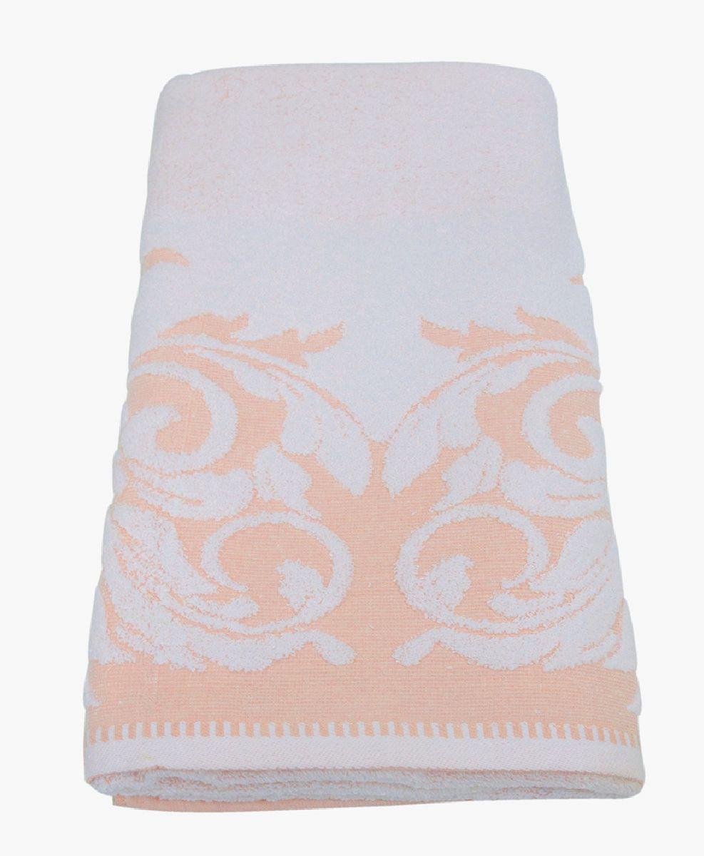 Полотенце махровое НВ Венеция, цвет: персиковый, 70 х 130 см. м0508_1278234