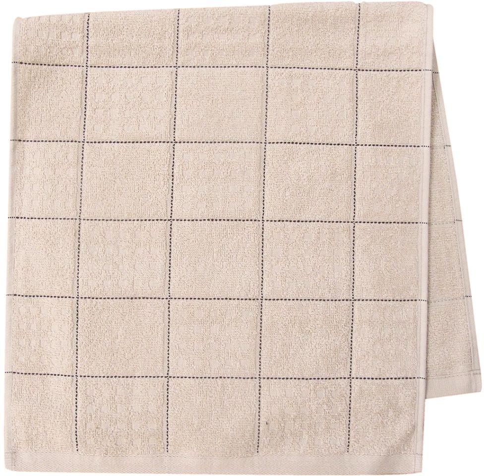 Полотенце махровое НВ Квадро, цвет: бежевый, 33 х 70 см. м1081_0580817