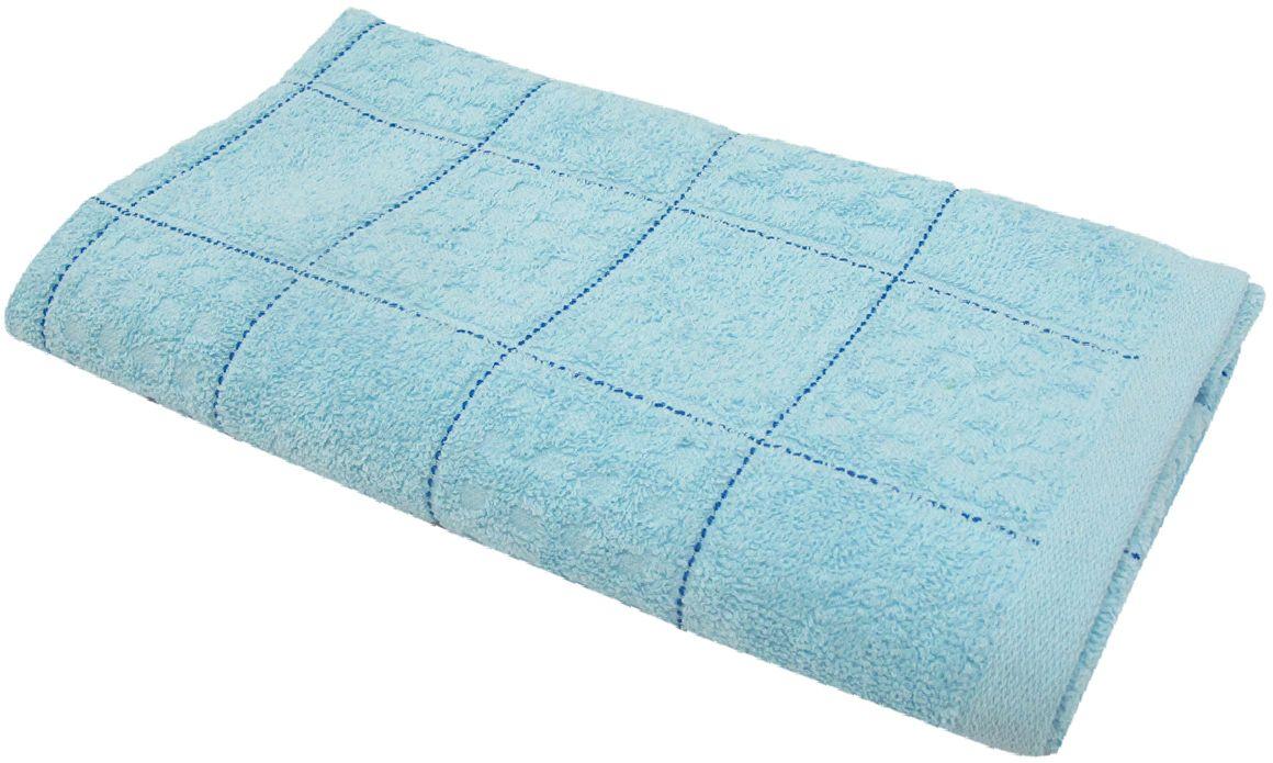 Полотенце махровое НВ Квадро, цвет: синий, 65 х 130 см. м1081_0180818