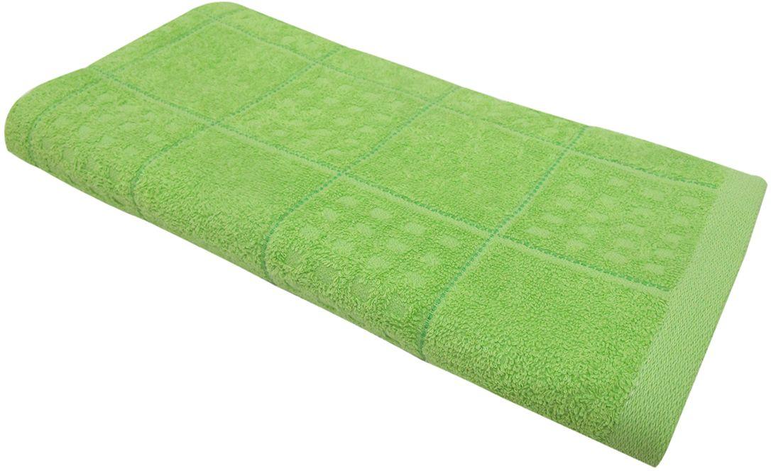 Полотенце махровое НВ Квадро, цвет: зеленый, 45 х 90 см. м1081_0380825
