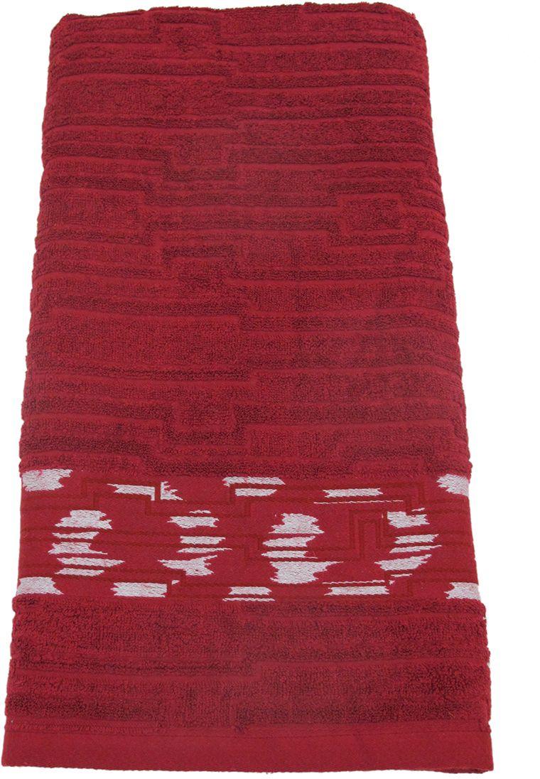 Полотенце махровое НВ Нюанс, цвет: бордовый, 70 х 140 см. м0667_1484570