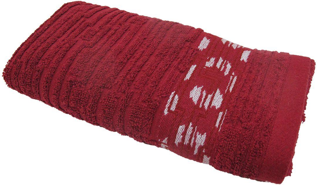 Полотенце махровое НВ Нюанс, цвет: бордовый, 33 х 70 см. м0667_1484578