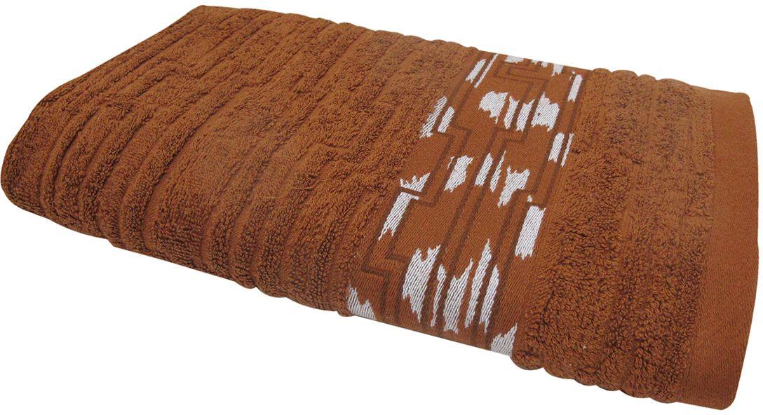 Полотенце махровое НВ Нюанс, цвет: коричневый, 50 х 90 см. м0667_0784580