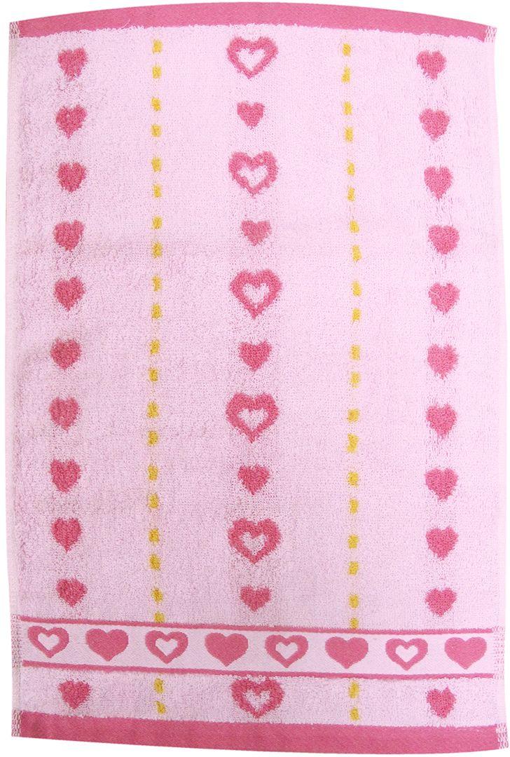 Полотенце махровое НВ Магнит, цвет: розовый, 30 х 50 см. м0737_0285184