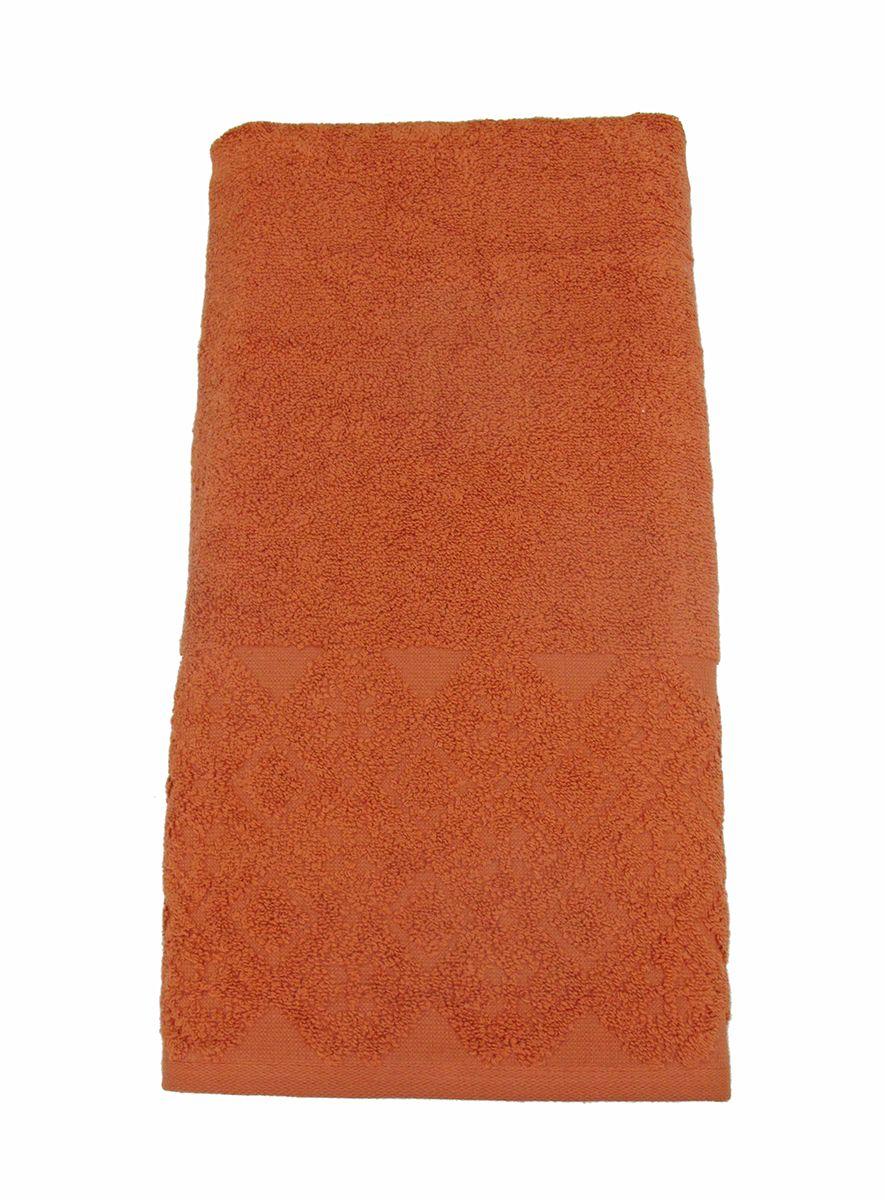 Полотенце махровое ВТ Вдохновение, цвет: терракотовый, 65 х 130 см. м1086_2485508