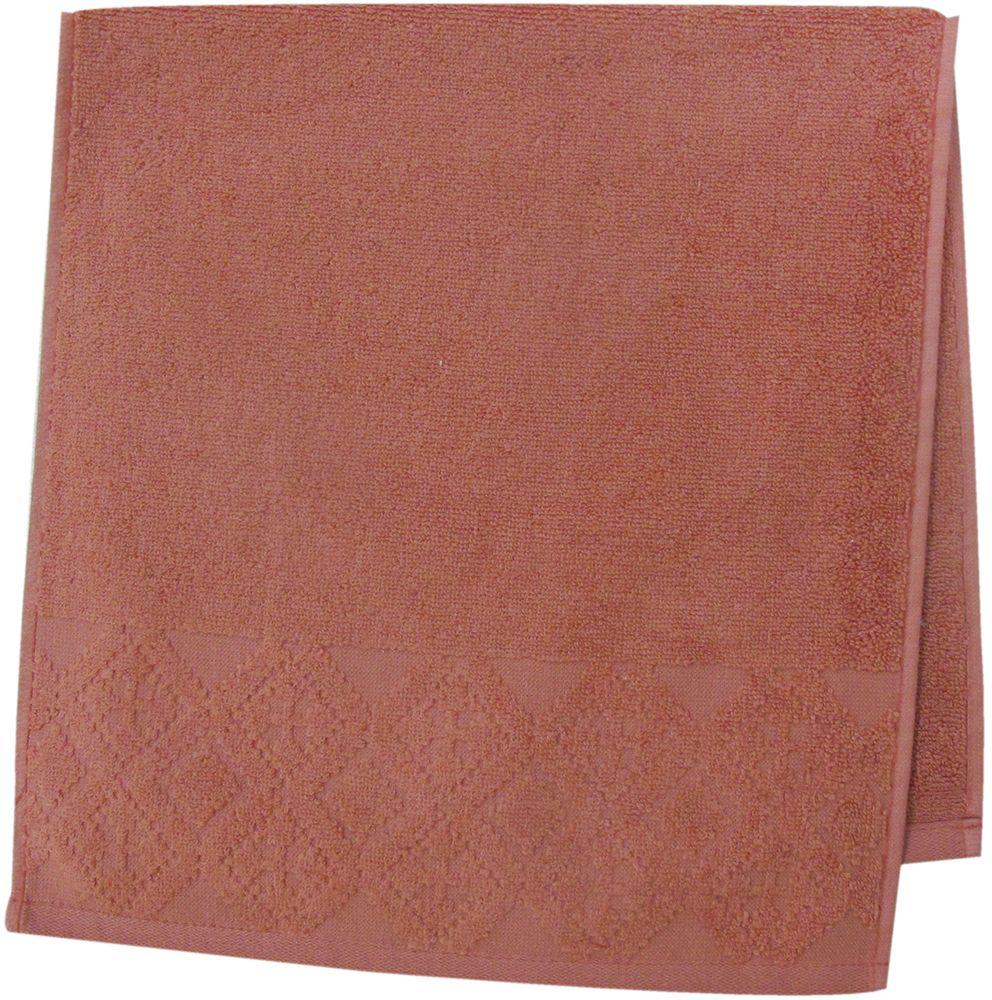 Полотенце махровое ВТ Вдохновение, цвет: терракотовый, 33 х 70 см. м1086_2485514