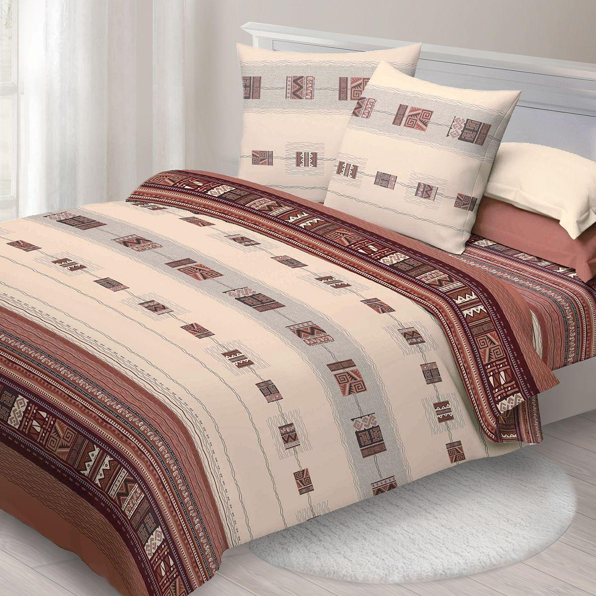 Комплект белья Спал Спалыч Этно, 2-спальное, наволочки 70x70, цвет: коричневыйDAVC150Спал Спалыч - недорогое, но качественное постельное белье из белорусской бязи. Актуальные дизайны, авторская упаковка в сочетании с качественными материалами и приемлемой ценой - залог успеха Спал Спалыча!В ассортименте широкая линейка домашнего текстиля для всей семьи - современные дизайны современному покупателю! Ткань обработана по технологии PERFECT WAY - благодаря чему, она становится более гладкой и шелковистой.• Бязь Барановичи 100% хлопок• Плотность ткани - 125 гр/кв.м.