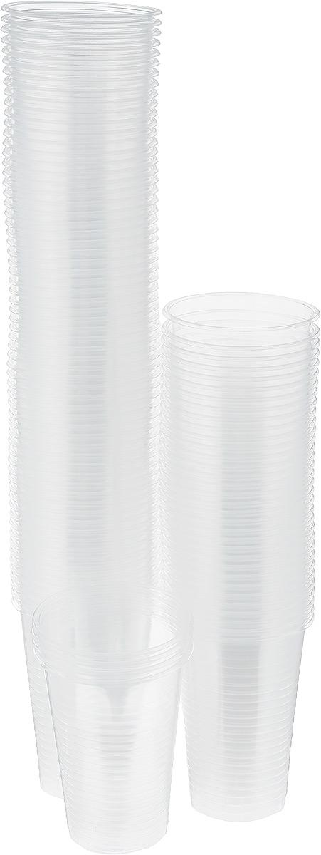 Стакан прозрачный Стиролпласт, 200 мл, 100 штПОС02312