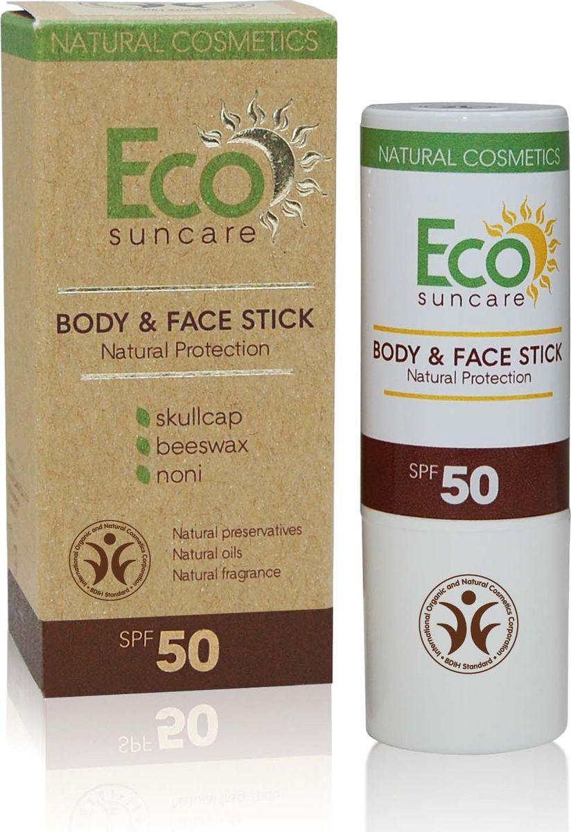 Eco Suncare Натуральный солнцезащитный карандаш для чувствительных участков кожи лица и тела -Natural Sun Protection Body & Face Stick