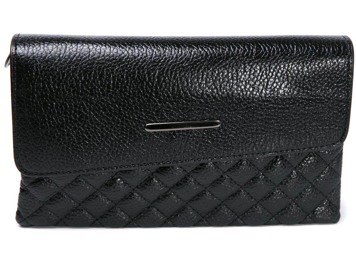 Клатч женский Mitya Veselkov, цвет: черный. LADYBAG5-08LADYBAG5-08Прекрасный ультрамодный клатч, закрывается на удобную защелку, внутри 3 отделения. Можно использовать как сумку, в комплекте для этого есть ремешок. Размеры: 23 x 14 см.