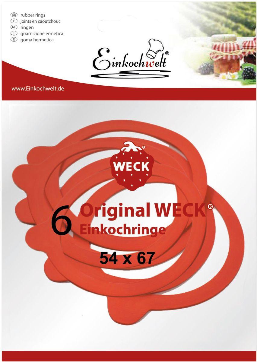 Набор резиновых прокладок Einkochwelt, 5,4 х 6,7 см, 6 шт346852Набор состоит из шести резиновых прокладок для банок со стеклянными крышками соответствующего диаметра горлышка. Они предназначены для закупорки различных домашних заготовок и обеспечивают герметичность емкости, надежно сохраняя качество содержимого продукта.