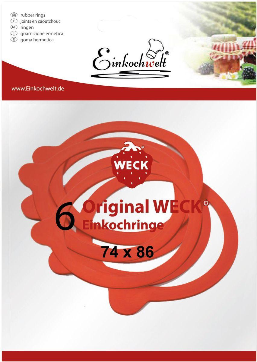 Набор резиновых прокладок Einkochwelt, 7,4 х 8,6 см, 6 шт346869Набор состоит из шести резиновых прокладок для банок со стеклянными крышками соответствующего диаметра горлышка. Они предназначены для закупорки различных домашних заготовок и обеспечивают герметичность емкости, надежно сохраняя качество содержимого продукта.