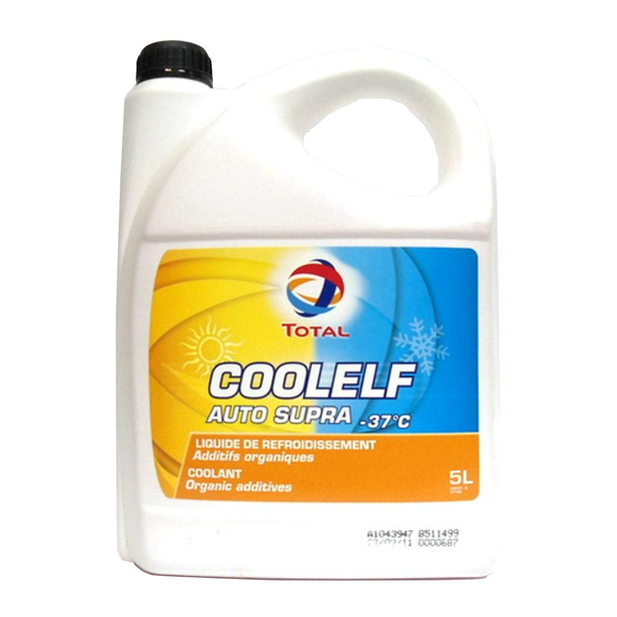 Охлаждающая жидкость Total Coolelf Auto Supra -37, 5 л2706 (ПО)Готовая охлаждающая жидкость с экстраувеличенным сроком службы на основе моноэтиленгликоля и органических ингибиторов коррозии. Температура застывания: -37°С. интервал замены – 5 лет (650 000 км для грузовиков, 250 000 км для легковых автомобилей). уменьшает износ блока цилиндров и водяной помпы. не содержит силикатов, фосфатов, хроматов, нитритов или боратов.AFNOR NFR 15-601, BS 6580, ASTM D 3306, ASTM D 4656, ASTM D4985, MB 325.3, DEUTZ / MWM, FORD, MAN 324 TYP SNF, VW TL 774D, JAGUAR, LEYLAND TRUCKS, OPEL-GM 6277M, RENAULT VI, SCANIA, SAAB, SEAT, SKODA