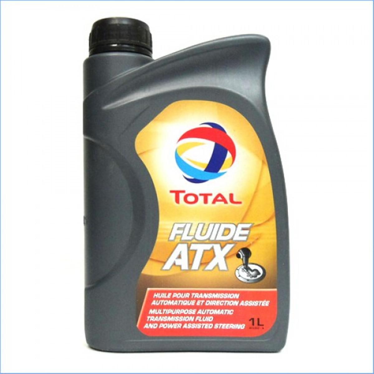 Трансмиссионное масло Total Fluide ATX, 1 л2706 (ПО)Жидкость для автоматических трансмиссий. очень высокий индекс вязкости, обеспечивающий плавную и устойчивую работу во всем температурном интервале. высокая термическая стабильность, разрешающая поддерживать стабильность других свойств во всем интервале рабочих температур,DEXRON-IID MERCON,BMW GROUP 23 - 3.0 и 24 - 3.0, MAN 339 TYPE Z-1, MAN 339 TYPE V-1, MB-APPROVAL 236.6, VOITH H 55.6335, PSA PEUGEOT CITROEN S71 2102, ZF TE-ML 03D, 04D, 09, 11A, 14A, 17C