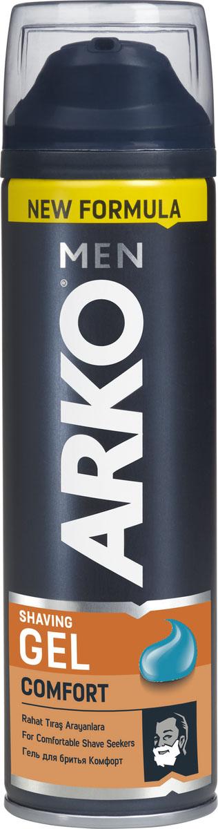 Arko Men Гель для бритья Comfort 200мл800535683Самое современное средство для бритья. Гель обеспечивает обильную пену, эластичность и упругость кожи во время бритья: тонизирует и снимает раздражение. В составе каждой формулы присутствуют глицерин и витамин Е. Тройное действие.