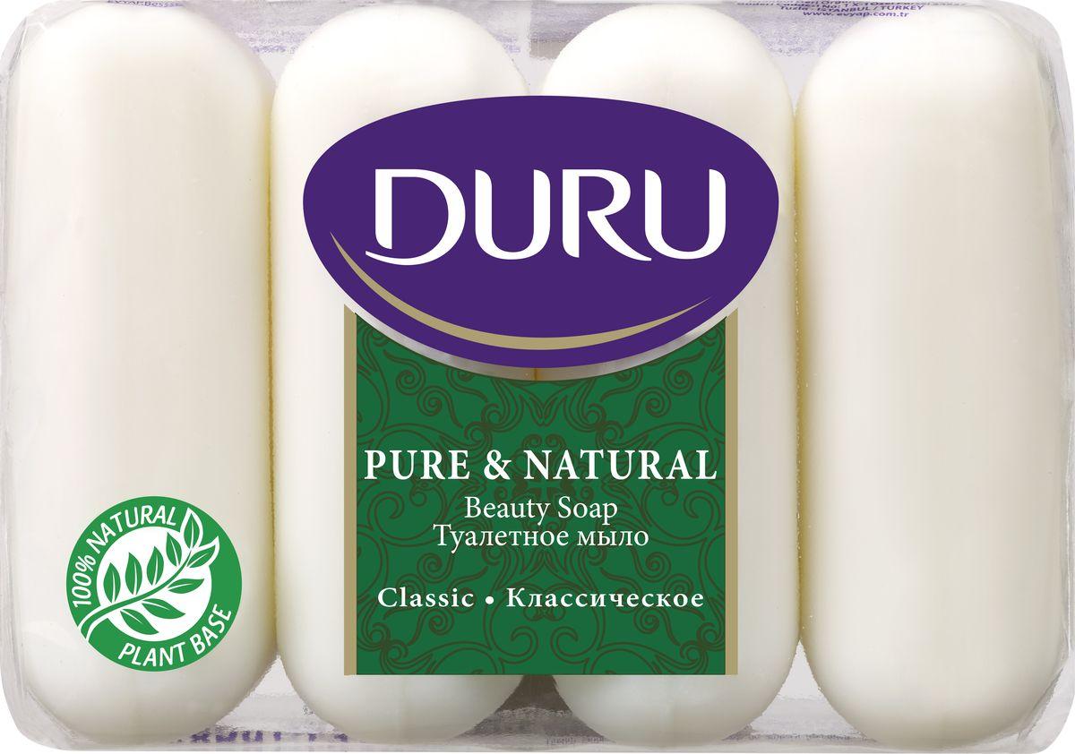 Duru Pure&NatМыло Классик э/пак 4*85г4605845001500Бережное туалетное мыло с нежными природными ароматами