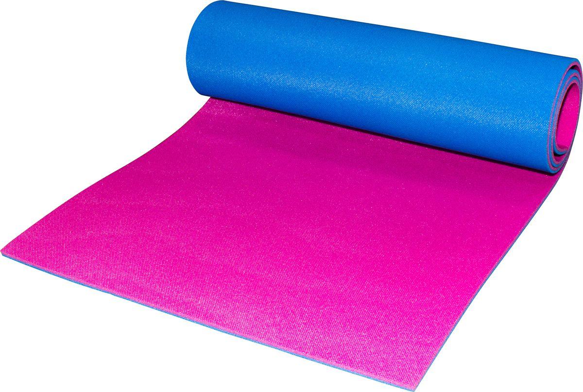 """Коврик альпиниста """"Пенолон"""", цвет: синий, фуксия, 180 х 60 х 0,8 см 21697"""