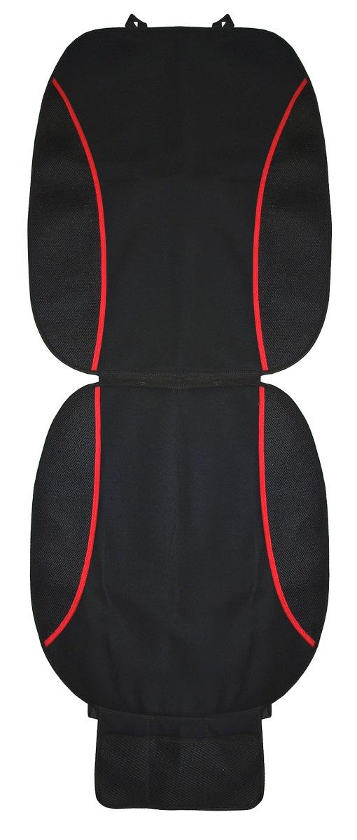 Накидка на сиденье Антей, с карманом, 120 х 54 смА508Универсальная накидка на сиденье с дополнительным карманом из сетчатого полиэстера. Выполнена из триплированного хлопка (плотный материал на подложке). Пластиковые фиксаторы на широкой резинке, с помощью которых накидка крепится на кресло автомобиля. Внизу сетчатый карман для разных мелочей. Размер 54х120 см.