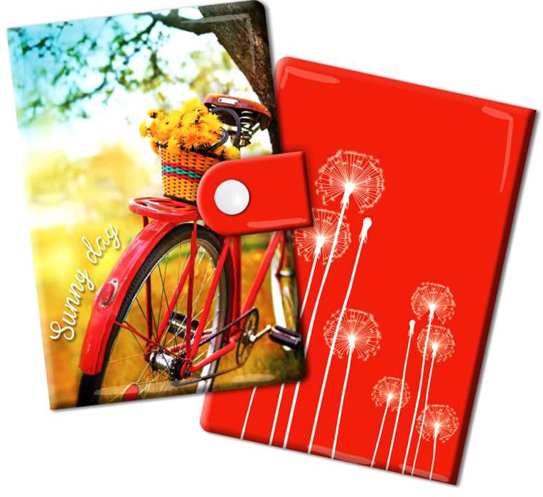 Визитница Magic Home Путешествуй, цвет: красный, желтый. 44876INT-06501Визитница Magic Home выполнена из искусственной кожи и дополнена оригинальным рисунком. Модель застегивается на хлястик с кнопкой. Внутри содержатся 10 карманов для карт и визиток. Стильная визитница подчеркнет вашу индивидуальность и изысканный вкус, а также станет замечательным подарком.