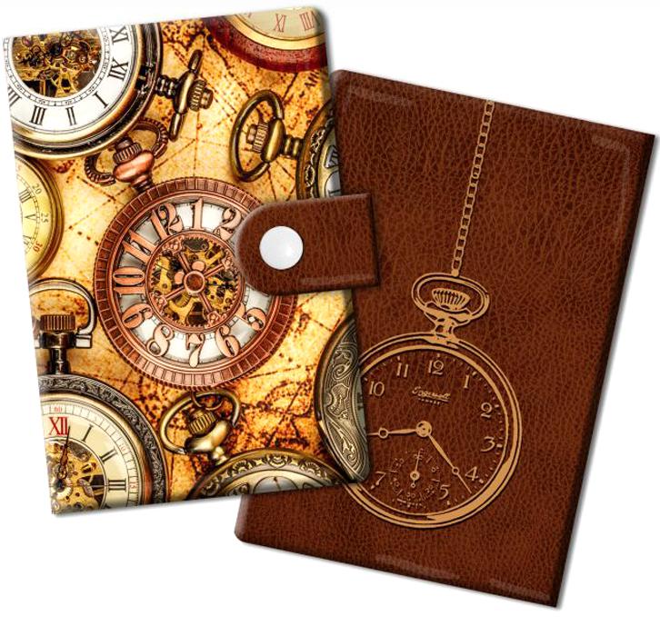 Визитница Magic Home Хронографы, цвет: светло-коричневый, коричневый. 4487844878Визитница Хронографы из ПВХ (10 карманов). Оригинальная визитница прекрасно подойдет для хранения визиток и кредитных карт. Стильная визитница подчеркнет вашу индивидуальность и изысканный вкус, а также станет замечательным подарком.