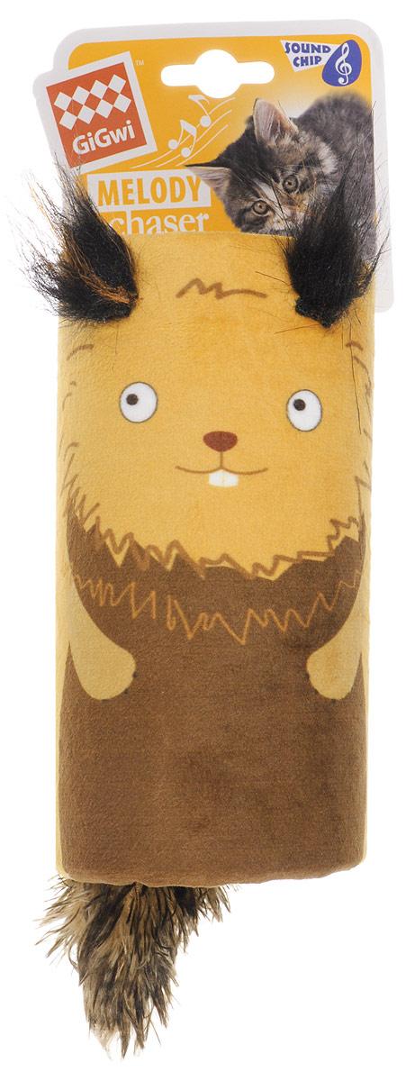 Игрушка для кошек GiGwi Белка-дразнилка, с хвостиком на резинке, со звуковым чипом, 15,5 х 8,5 см75354Игрушка для кошек GiGwi Белка-дразнилка имеет встроенный звуковой чип. Реалистический звук возникает при касании игрушки лапами, звук прерывается через несколько секунд. Игрушки этой серии предназначены для удовлетворения охотничьих инстинктов вашего питомца.
