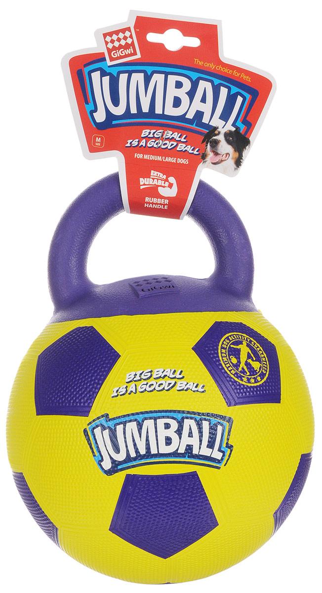 Игрушка для собак GiGwi Джамболл, 20 см х 26 см х 20 см. 7536675366Игрушка для собак GiGwi Джамболл выполнена из прочной резины в виде мяча с ручкой. Игрушка Джамболл для средних и больших собак. Ручка сделана из пористой резины, что не позволяет собаке прокусывать мяч, дизайн ручки также помогает собаке легко подобрать мяч. Материал теннисный, неабразивный ( не стирает зубы) и нетоксичный.