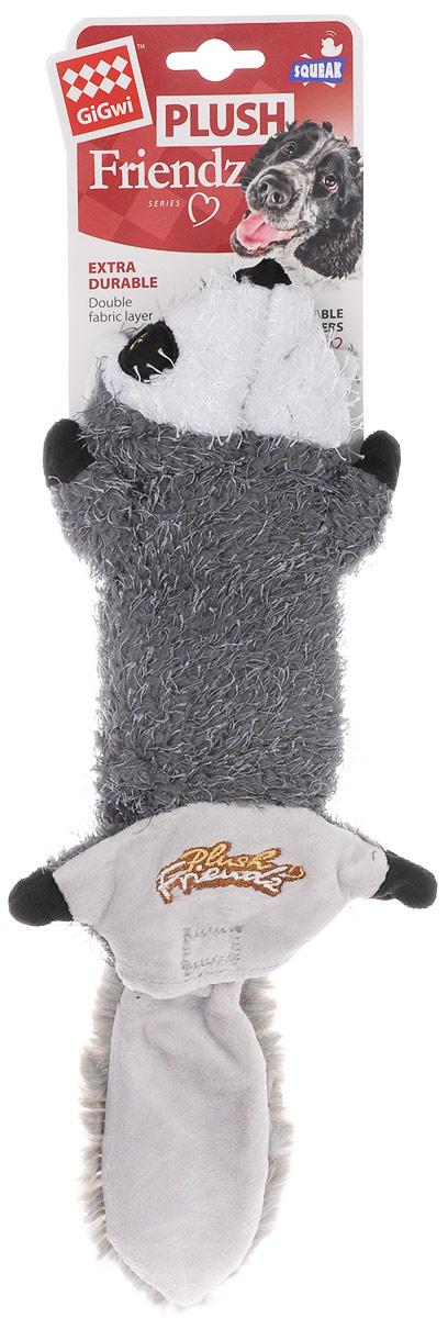 Игрушка для собак GiGwi Енот, шкурка с пищалкой, длина 40 см. 7535275352Игрушка для собак GiGwi Енот выполнена из ворсистого текстиля. Игрушка подходит для активной игры. Забавный енот с пищалкой непременно привлечет внимание вашего друга.