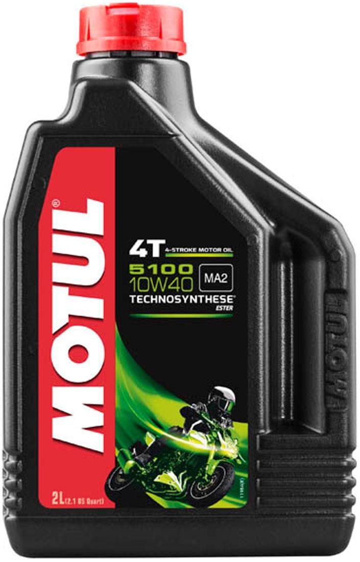 Масло моторное Motul 5100 4T. Technosynthese, синтетическое, 10W-40, 2 л104067Моторное масло для 4-х тактных мотоциклов. Создано по технологии сложных эфиров (эстеров), Technosynthese . Улучшенная стойкость масляной пленки обеспечивает защиту двигателя и коробки переключения передач, а также плавное переключение. Соответствует требованиям Jaso Ma2, что обеспечивает четкость работы сцепления в масляной ванне. Совместимо с системами нейтрализации отработавших газов. API Стандарты: API SG/SH/SJ/SL/SM JASO Стандарты: JASO MA2 M033MOT112