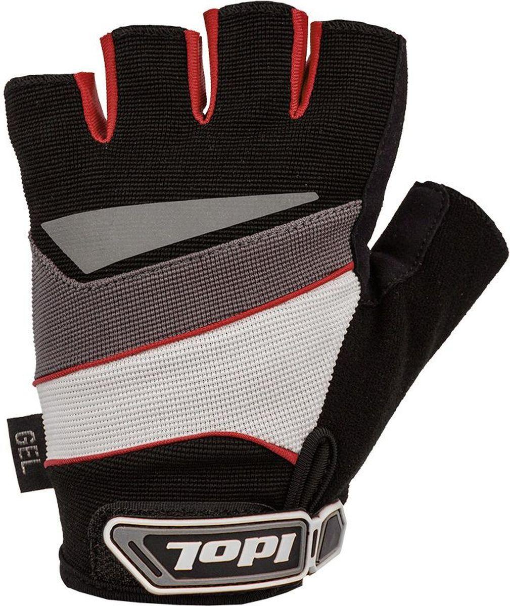 """Перчатки велосипедные Idol """"Lech"""", цвет: черный, красный. Размер M 2703"""