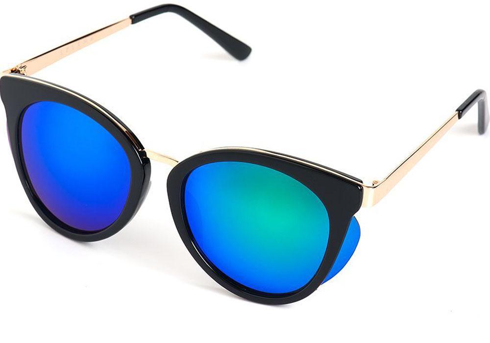 Очки солнцезащитные женские Selena, цвет: золотистый, синий, черный. 80035631INT-06501Солнцезащитные женские очки Selena выполнены из качественного материала. Линзы очков обеспечивают 100% защиту от ультрафиолетовых лучей.Такие очки защитят глаза от ультрафиолетовых лучей, подчеркнут вашу индивидуальность и сделают ваш образ завершенным.Размер (ширина линзы*ширина моста-длина дужки) 56*20-135.