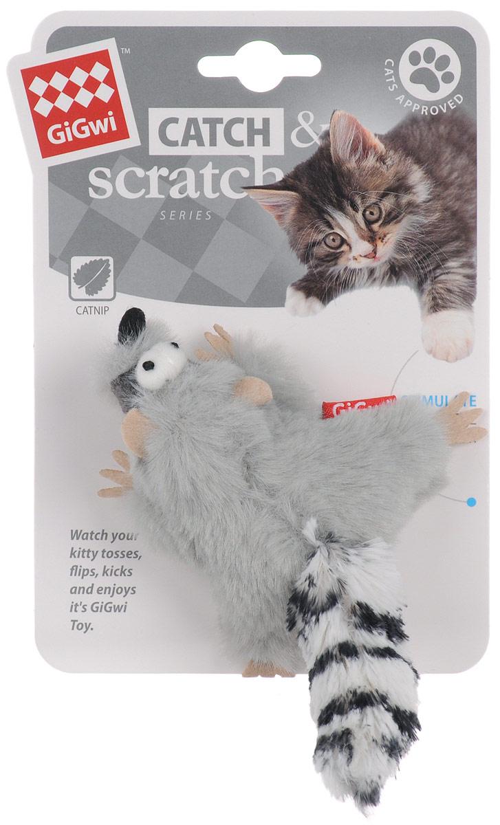 Игрушка для кошек GiGwi Енот, с кошачей мятой, длина 8 см0120710Мягкая игрушка GiGwi Енот изготовлена из текстиля. Играя с этой забавной игрушкой, маленькие котята развиваются физически, а взрослые кошки и коты поддерживают свой мышечный тонус. Изделие выполнено в виде мыши. В качестве наполнителя выступает кошачья мята.Кошачья мята - растение, запах которого делает кошку более игривой и любопытной. С помощью этого средства кошка легче перенесет путешествие на автомобиле, посещение ветеринарного врача, переезд на новую квартиру.Размеры игрушки (без учета хвоста): 8 х 8 х 3,5 см.