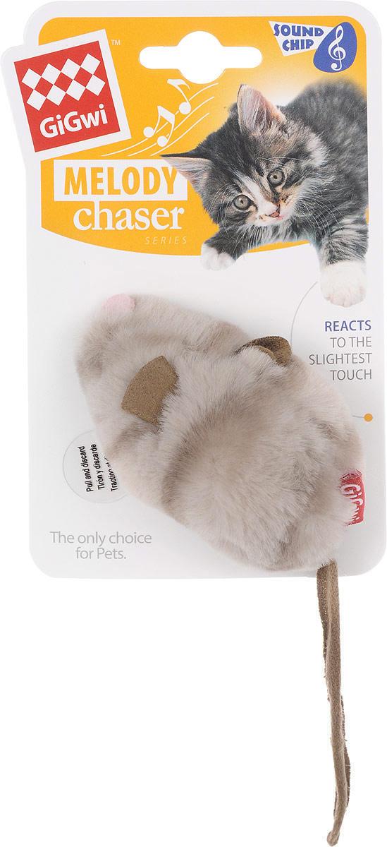 Игрушка для кошек GiGwi Мышка, с электронным чипом, длина 9 см. 753770120710Игрушка для кошек GiGwi Мышка выполнена из текстиля, дополнена звуковым чипом. Игрушка создает реалистичный звук при касании игрушки лапками, способствует развитию охотничьего инстинкта вашего питомца.
