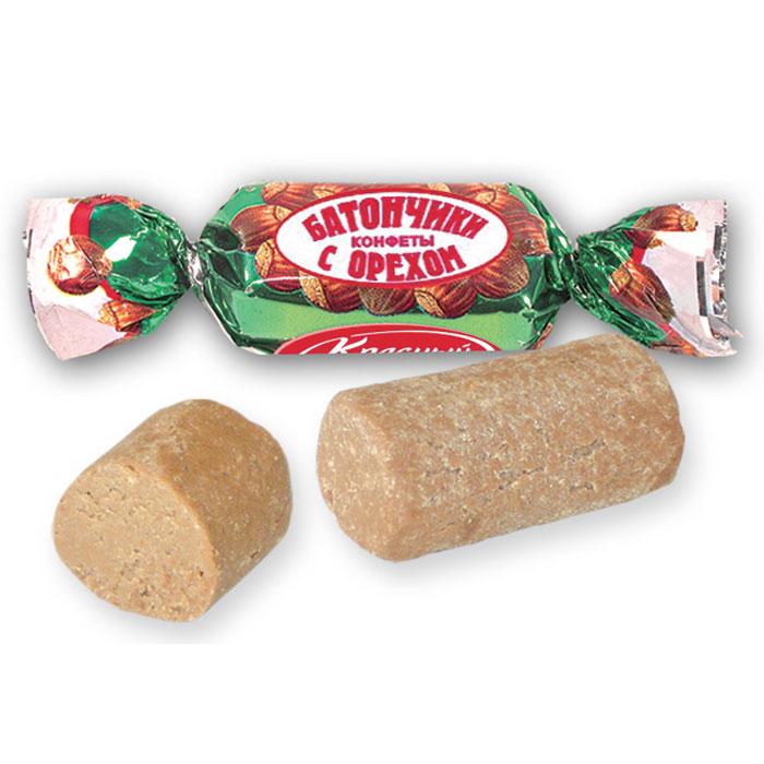Красный Октябрь конфеты батончики с орехом, 250 г0120710Классические пралиновые конфеты с молотыми орехами.