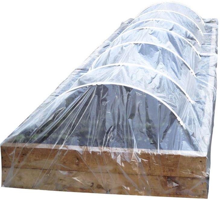 Парник-туннель сборный Garden Show, 5 х 1,15 х 0,58 м466014Парник-туннель сборный Garden Show 5х1,15х0,58м: каркас(дуги ПВХ), пленка 50мкм, колышки