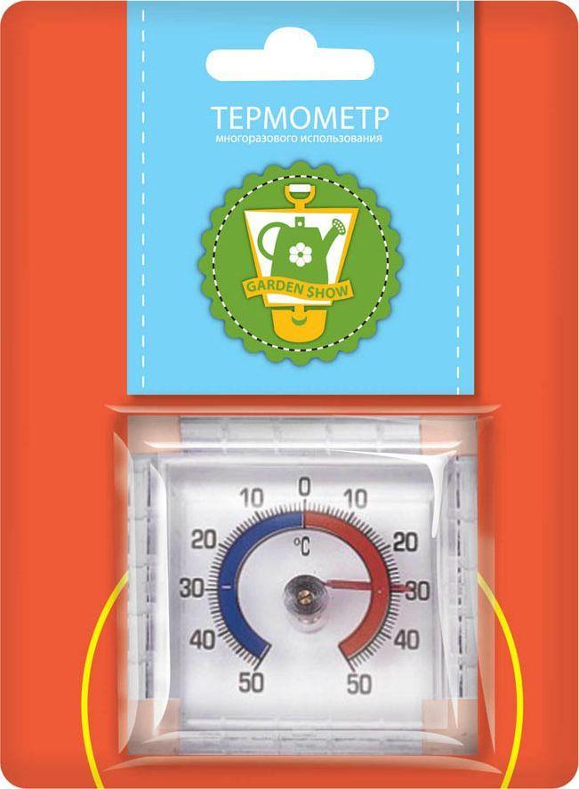 Термометр оконный Garden Show, на липучке, 7,5 х 7,5 х 2,5 см garden show