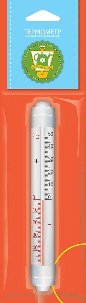 Термометр оконный Garden Show, с креплением, 3 х 2,2 х 20 см garden show