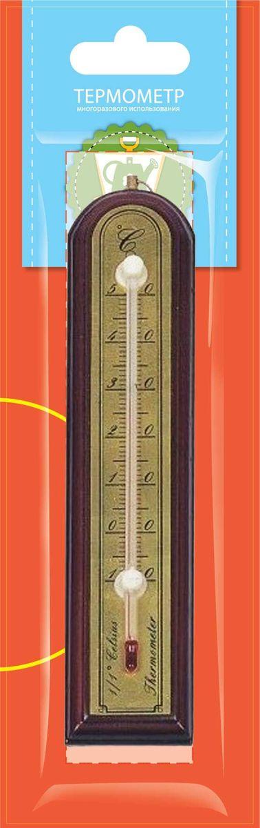 Термометр комнатный Garden Show, цвет: красное дерево, 3,9 х 18,8 см garden show