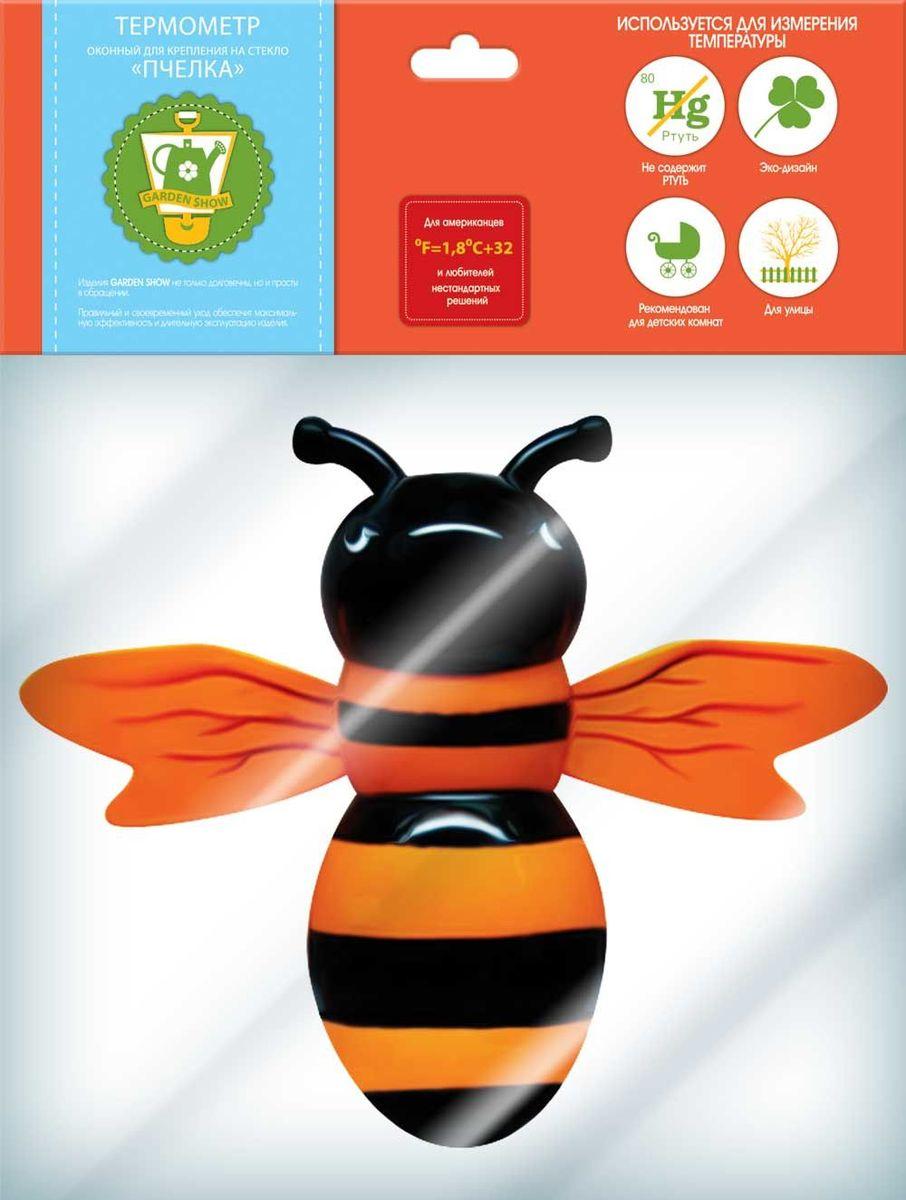 Термометр оконный Garden Show Пчелка, для крепления на стекло, 22 х 23 см466188Термометр оконный для крепления на стекло Garden Show Пчелка 22х23см