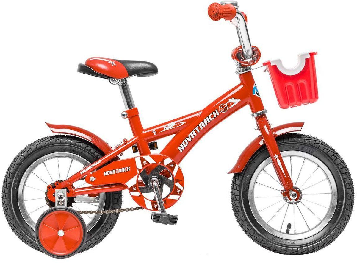 Велосипед детский Novatrack Delfi, цвет: красный, 12124DELFI.RD5Велосипед Novatrack Delfi c 12-дюймовыми колесами – это надежный велосипед для ребят от 2 до 4 лет. Привлекательный дизайн, надежная сборка, легкость и отличная управляемость – это еще не все плюсы данной модели. Велосипед Delfi снабжен ограничителем поворота руля, который не позволит ребенку слишком сильно вывернуть переднее колесо велосипеда, и тем самым предотвратит падения. Цепь закрыта декоративной накладкой, которая защитит одежду и ноги ребенка от попадания в механизм. Данная модель специально разработана для легкого обучения езде на велосипеде. Низкая рама позволит ребенку быстро взбираться и слезать с велосипеда. Колеса закрыты крыльями, которые защитят ребенка от брызг, а на руле располагается вместительная корзинка для перевозки самых необходимых в дороге предметов.