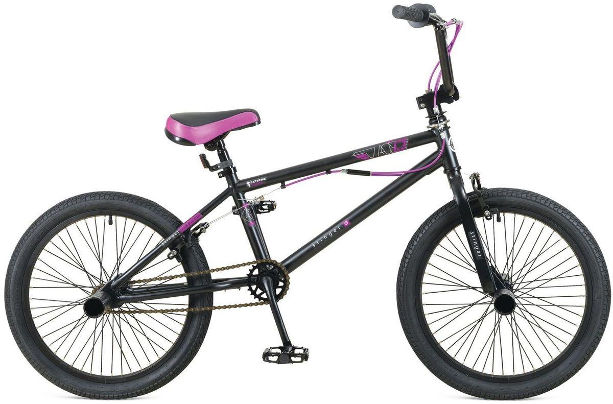 Велосипед Stinger BMX Ace, цвет: черный, 20MHDR2G/ABMX ACE – это велосипед предназначенный для выполнения трюков. Его заниженная рама на основе прочной стали и жесткая вилка формируют надежную конструкцию для катания в различных стилях: стрит, парк, флетленд и других. Данная модель оснащена гироротором, благодаря которому, можно осуществлять поворот руля на 360 и более градусов, и надежными тормозами V-brake. BMX ACE отличается своей долговечностью, простотой в обслуживании и универсальностью.