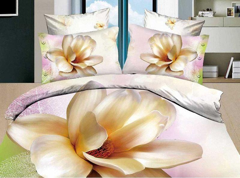 Комплект белья МарТекс Лилия, 1,5-спальный, наволочки 50х70. 01-0080-101-0080-1