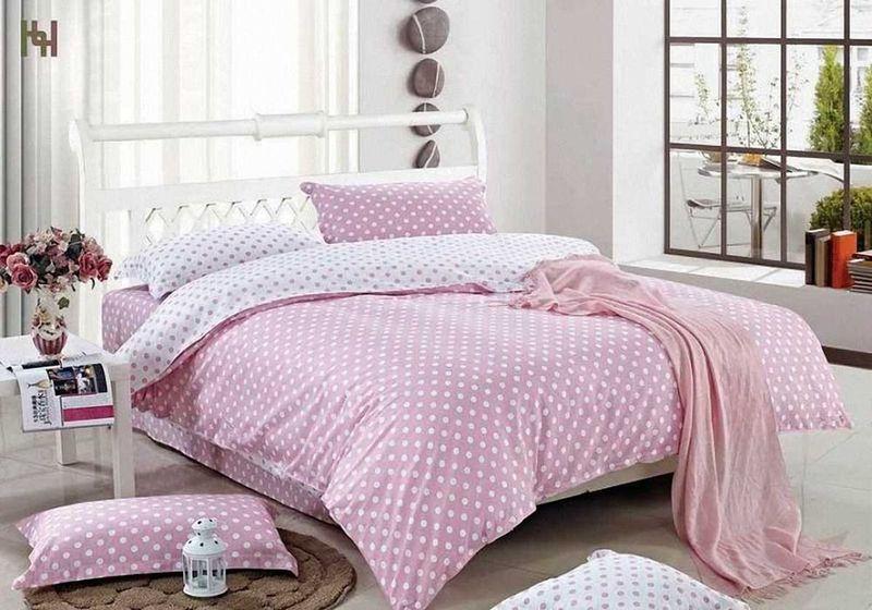 Комплект белья МарТекс Идилия розовая, 1,5-спальный, наволочки 50х70. 01-0530-101-0530-1