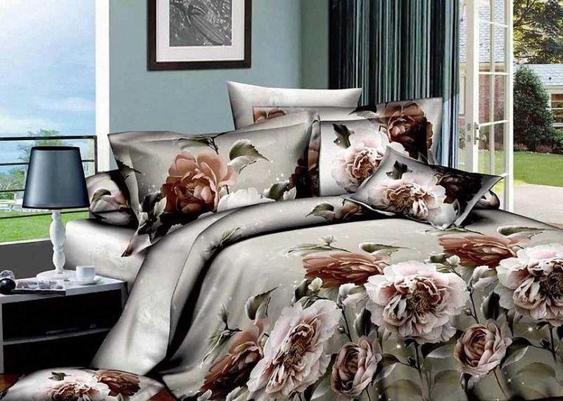 Комплект белья МарТекс Триумф, 2-спальный, наволочки 70х70S03301004Комплект постельного белья МарТекс Триумф, выполненный из сатина (100% хлопок), состоит из пододеяльника, простыни и двух наволочек. Изделия оформлены оригинальным принтом. Сатин - прочная, легкая и мягкая на ощупь ткань. Белье из него нелиняет при стирке и легко гладится. Эта ткань традиционно считаетсяодной из лучших для изготовления постельного белья.Такой комплект подойдет для любого стилевого и цветового решения интерьера, а также создаст в доме уют. Приобретая комплект постельного белья МарТекс, вы можете быть уверенны в том, что покупкадоставит вам и вашим близким удовольствие и подарит максимальный комфорт.